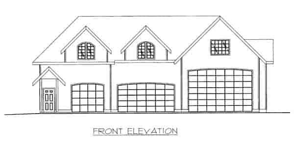 3 Car Garage Plan 86869, RV Storage Picture 2