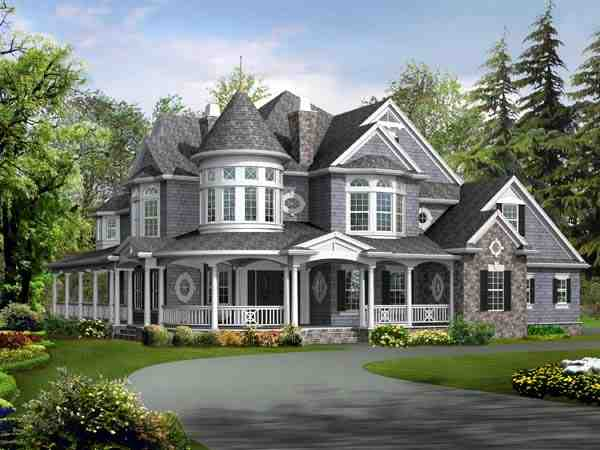 Farmhouse, Victorian House Plan 87609 with 4 Beds, 5 Baths, 3 Car Garage Picture 1