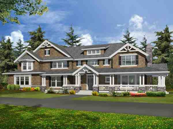 Craftsman House Plan 87669 with 4 Beds, 4 Baths, 4 Car Garage Picture 1