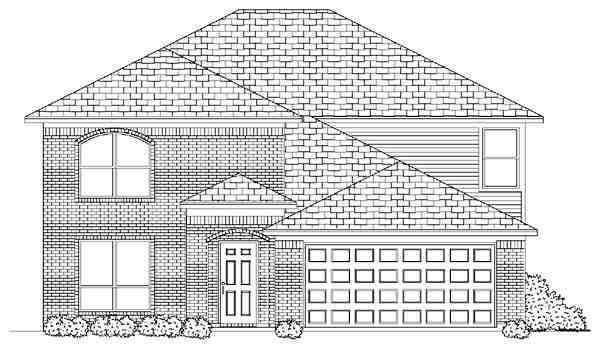 Traditional House Plan 87909 with 5 Beds, 3 Baths, 2 Car Garage Elevation