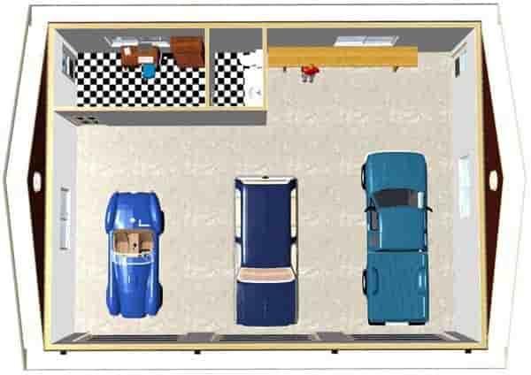 3 Car Garage Plan 90882 Picture 3