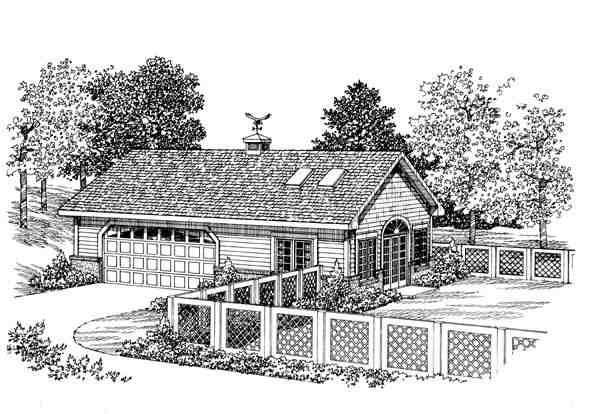 2 Car Garage Apartment Plan 91252 Elevation