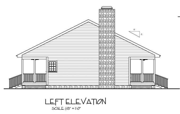 Cabin, Country, Ranch House Plan 92376 with 2 Beds, 2 Baths Picture 1