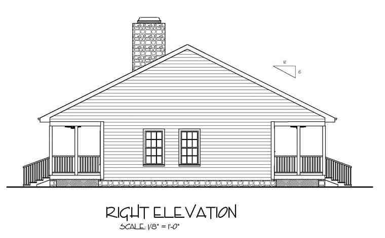 Cabin, Country, Ranch House Plan 92376 with 2 Beds, 2 Baths Picture 2