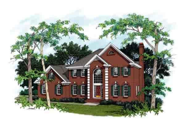 European, Tudor House Plan 92414 with 4 Beds, 3 Baths Elevation