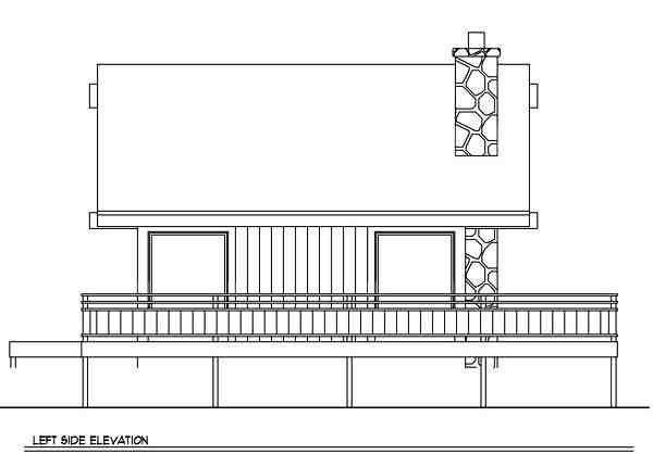 Cabin House Plan 94307 with 2 Beds, 2 Baths Picture 1