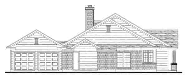 Country, Southern House Plan 95737 with 3 Beds, 2 Baths, 2 Car Garage Picture 2