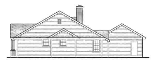 Country, Southern House Plan 95737 with 3 Beds, 2 Baths, 2 Car Garage Picture 3