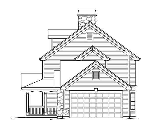 Cape Cod, Colonial, Country, Farmhouse House Plan 95822 with 4 Beds, 4 Baths, 2 Car Garage Picture 2