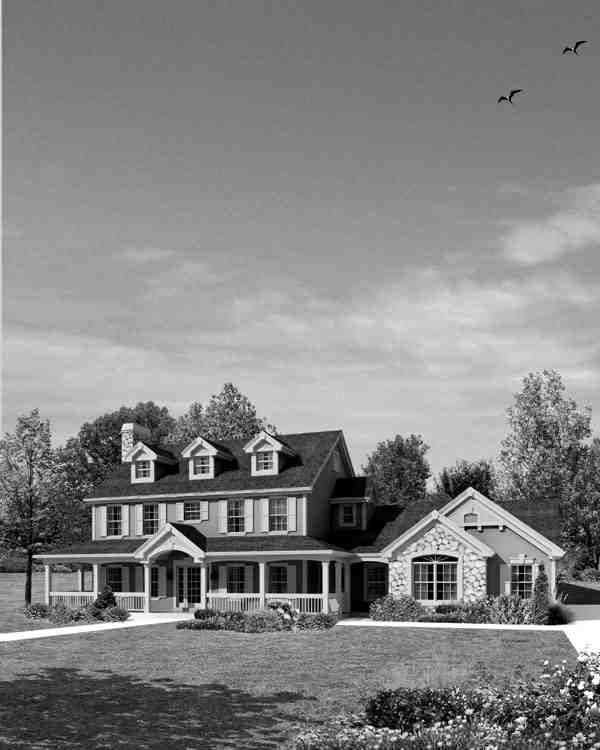 Cape Cod, Colonial, Country, Farmhouse House Plan 95822 with 4 Beds, 4 Baths, 2 Car Garage Picture 3