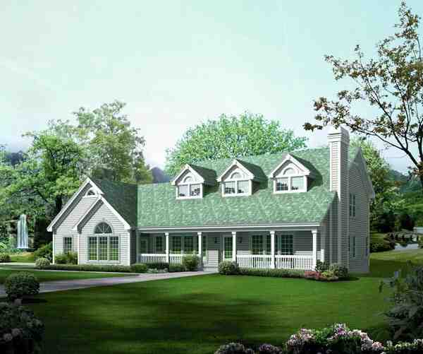 Contemporary, Country House Plan 95849 with 5 Beds, 6 Baths, 2 Car Garage Elevation