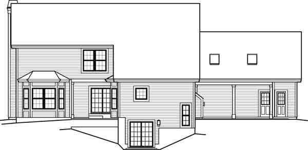 Contemporary, Country House Plan 95849 with 5 Beds, 6 Baths, 2 Car Garage Picture 3