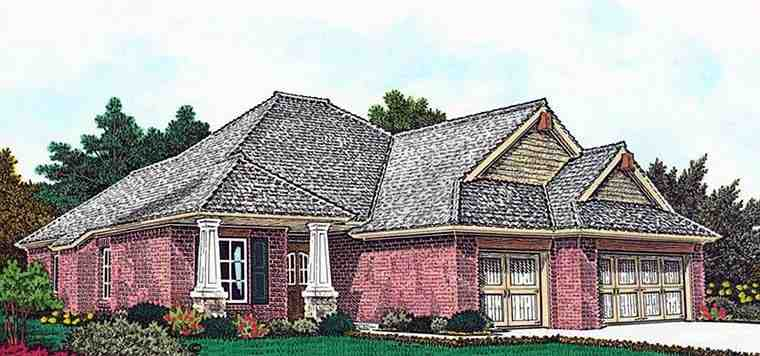 European, Traditional House Plan 96331 with 3 Beds, 3 Baths, 3 Car Garage Elevation
