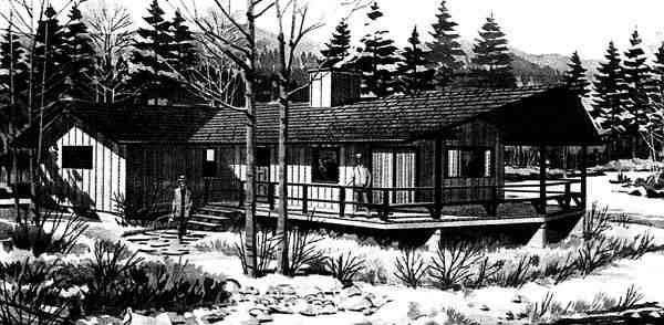 Ranch House Plan 98378 with 1 Beds, 1 Baths Elevation