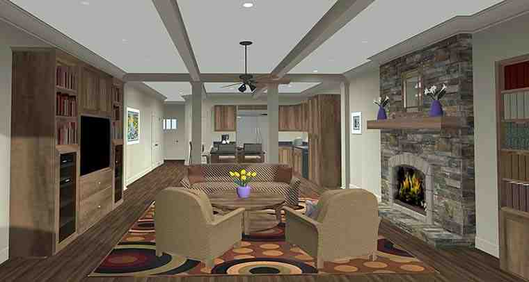 Cottage, Country, Craftsman House Plan 98401 with 4 Beds, 2 Baths, 2 Car Garage Picture 1