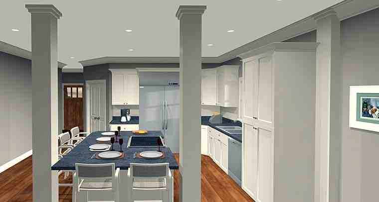 Cottage, Country, Craftsman House Plan 98401 with 4 Beds, 2 Baths, 2 Car Garage Picture 3