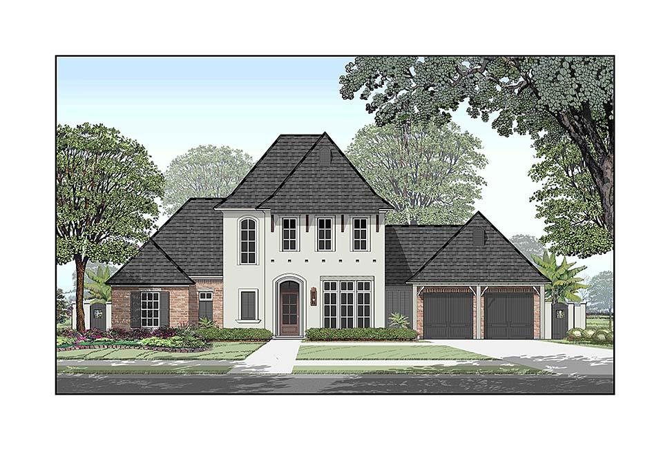 European, French Country, Southern House Plan 40338 with 4 Beds, 5 Baths, 3 Car Garage Elevation