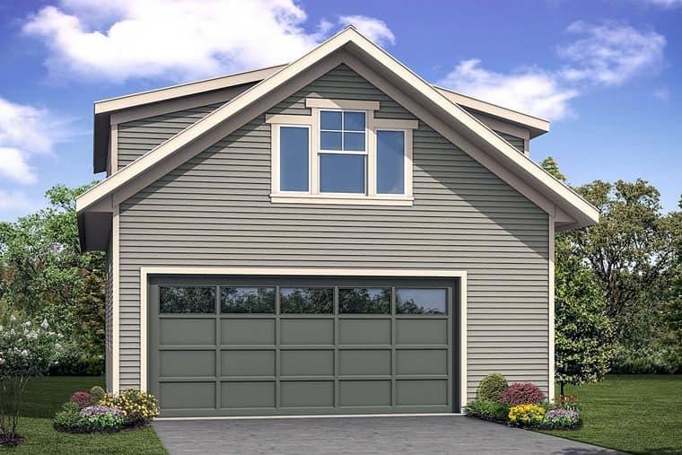 Traditional 2 Car Garage Apartment Plan 41281 Elevation