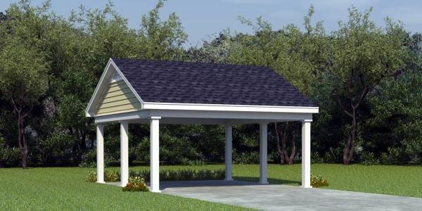 2 Car Garage Plan 45770 Elevation