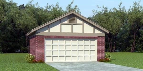 European, Traditional 2 Car Garage Plan 45775 Elevation