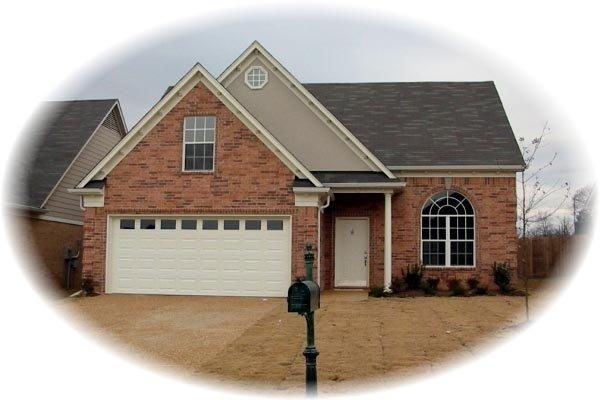 Traditional House Plan 46371 with 3 Beds, 3 Baths, 2 Car Garage Elevation