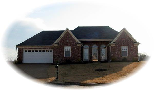 One-Story, Traditional House Plan 46657 with 3 Beds, 2 Baths, 2 Car Garage Elevation