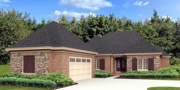 Country, European House Plan 48756 with 3 Beds, 3 Baths, 2 Car Garage Elevation