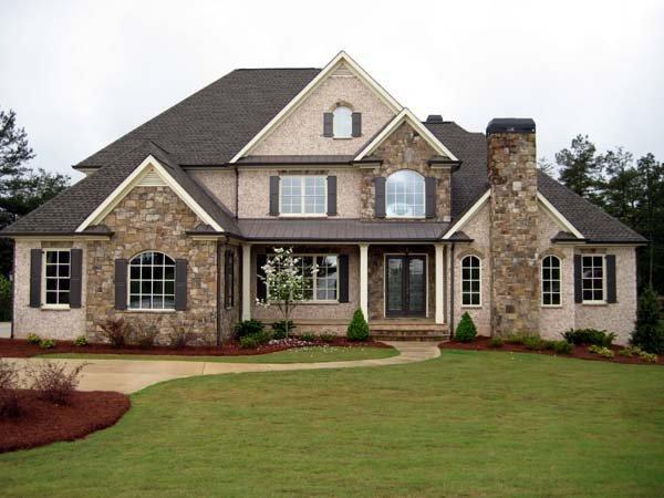 European House Plan 50250 with 4 Beds, 4 Baths, 3 Car Garage Elevation