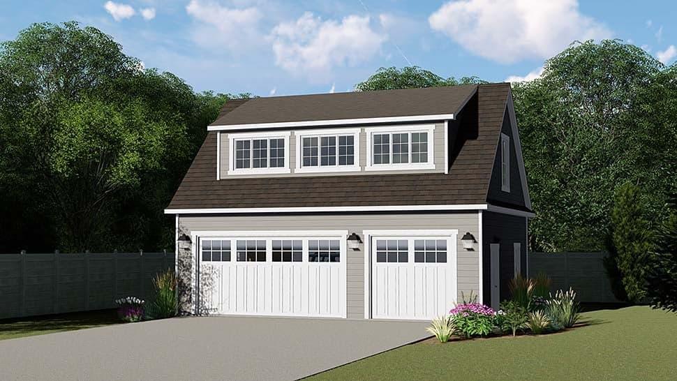 3 Car Garage Plan 50793 Elevation