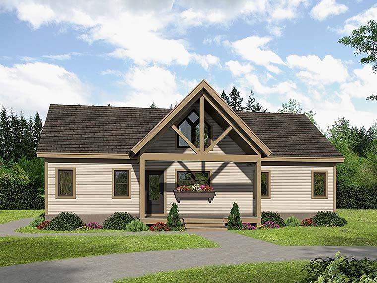 Cabin, Contemporary, Southern, Traditional House Plan 51547 with 2 Beds, 2 Baths Elevation