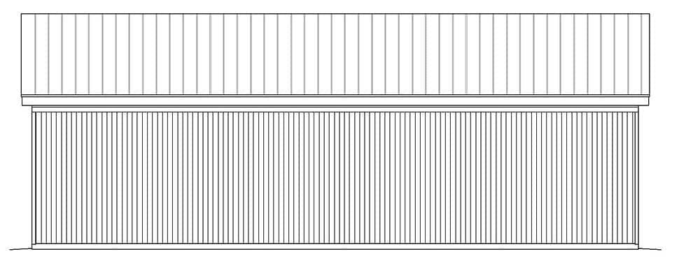 Contemporary, Modern 3 Car Garage Plan 51625 Rear Elevation
