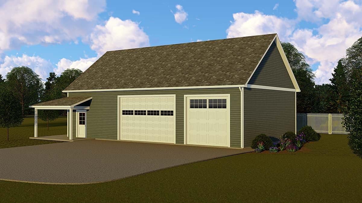 Country 3 Car Garage Apartment Plan 51857 Elevation