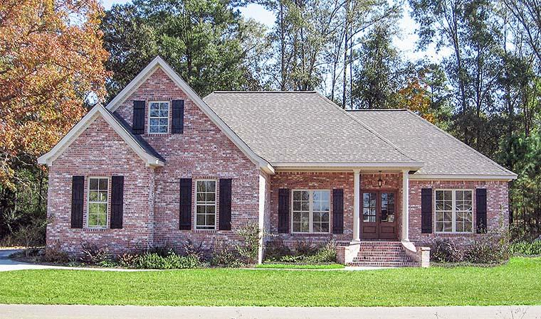 Country, French Country, Traditional House Plan 51914 with 3 Beds, 2 Baths, 2 Car Garage Elevation