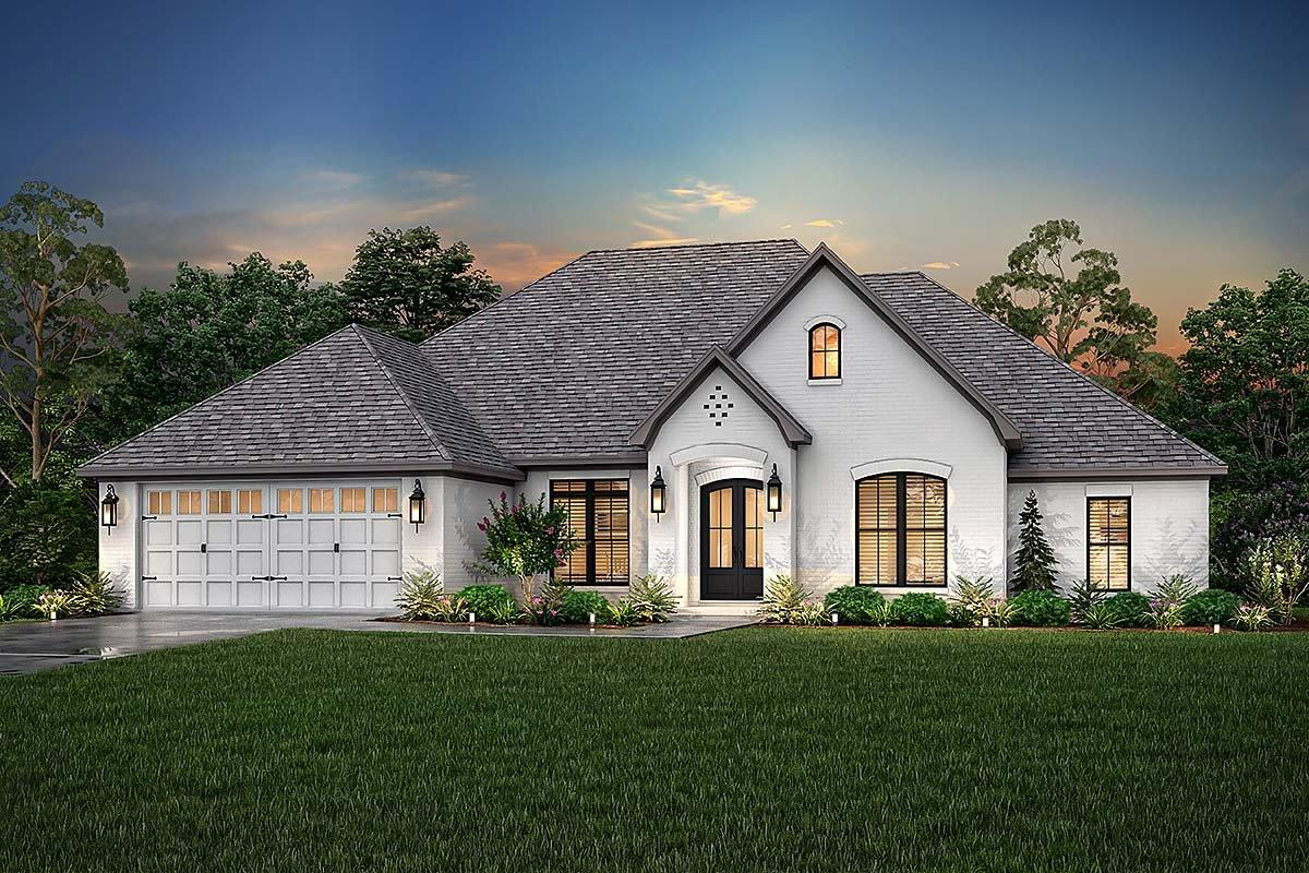 European, French Country House Plan 51942 with 4 Beds, 3 Baths, 2 Car Garage Elevation