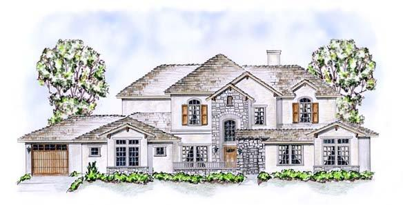 House Plan 53911 with 5 Beds, 5 Baths, 3 Car Garage Elevation