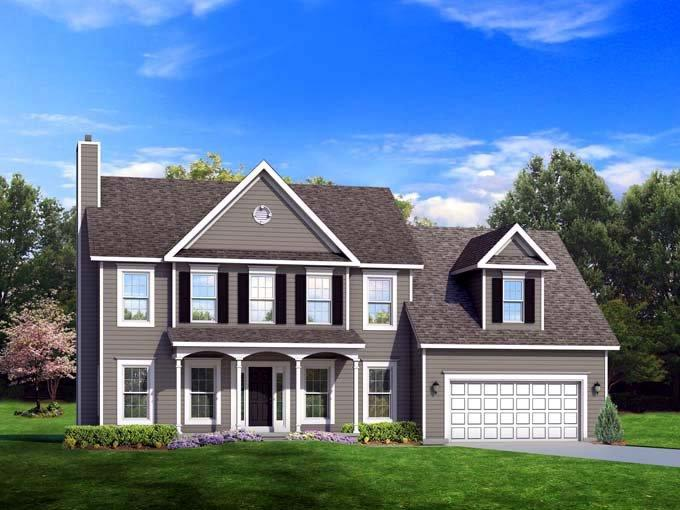 Traditional House Plan 54122 with 5 Beds, 3 Baths, 2 Car Garage Elevation
