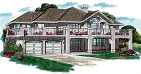 Traditional House Plan 55004 with 3 Beds, 2 Baths, 2 Car Garage Elevation