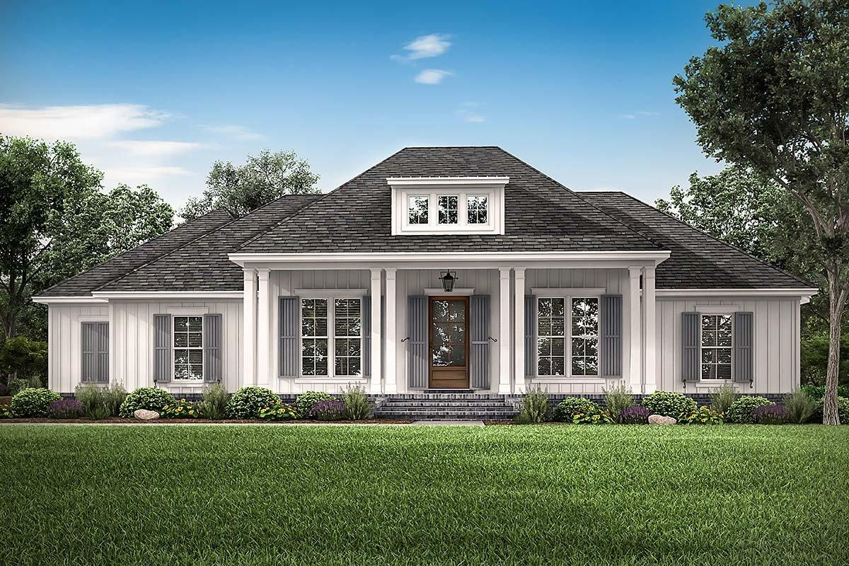 Country, French Country, Southern House Plan 56711 with 3 Beds, 3 Baths, 2 Car Garage Elevation