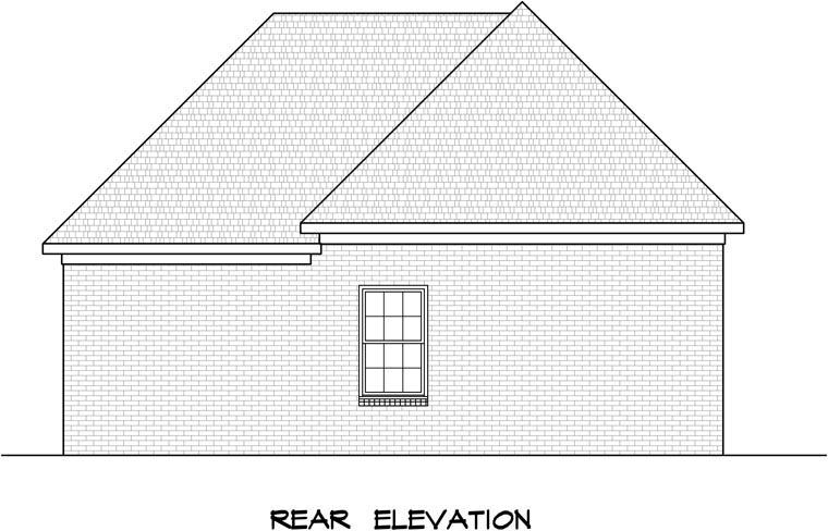 3 Car Garage Plan 58245 Rear Elevation