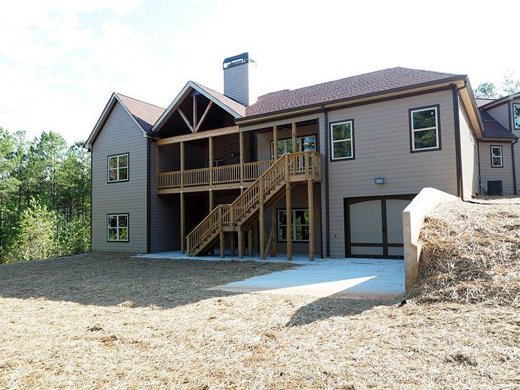 Cottage, Country, Craftsman, Traditional House Plan 58299 with 4 Beds, 4 Baths, 3 Car Garage Rear Elevation