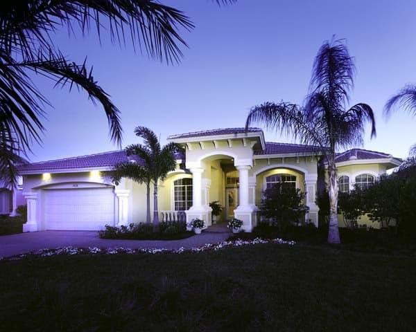 Florida House Plan 58904 with 3 Beds, 4 Baths, 3 Car Garage Elevation