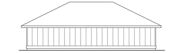 Traditional 3 Car Garage Plan 59470 Rear Elevation