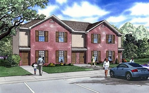 Traditional Multi-Family Plan 61292 with 8 Beds, 8 Baths Elevation