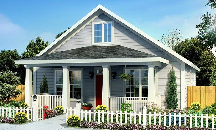 Cottage, Country, Southern, Traditional House Plan 61439 with 3 Beds, 2 Baths Elevation