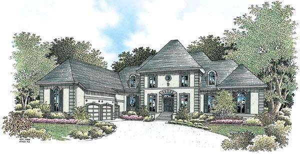 European House Plan 65609 with 4 Beds, 6 Baths, 3 Car Garage Elevation