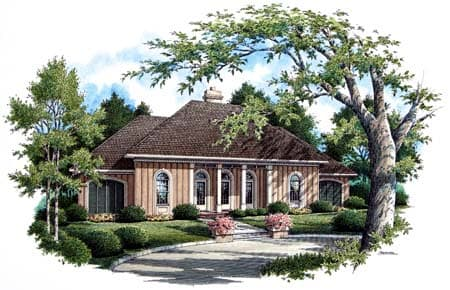 Country, One-Story, Traditional House Plan 65697 with 3 Beds, 2 Baths, 2 Car Garage Elevation