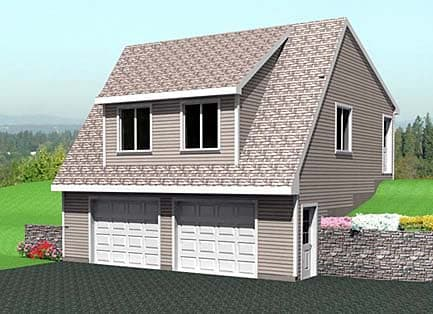 2 Car Garage Plan 67300 Elevation