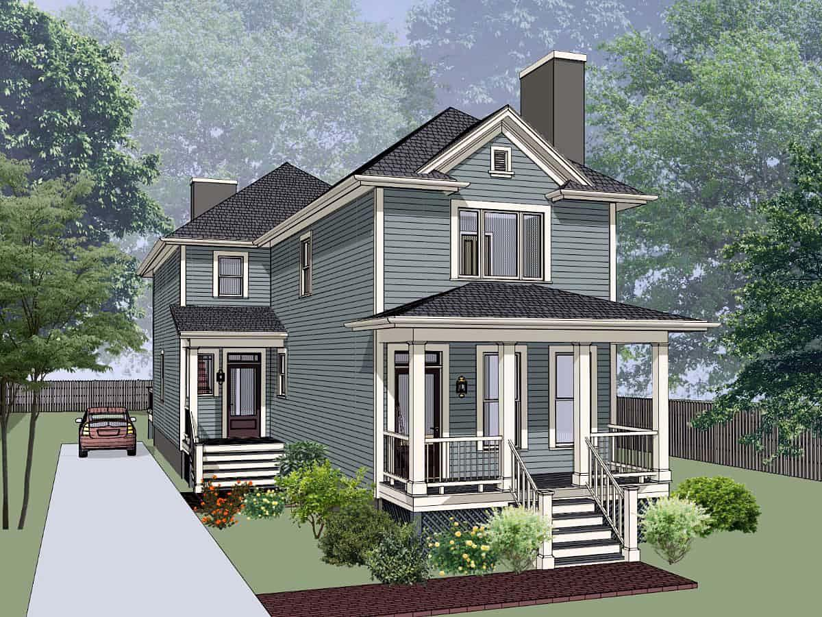 Bungalow Multi-Family Plan 72781 with 5 Beds, 5 Baths Elevation