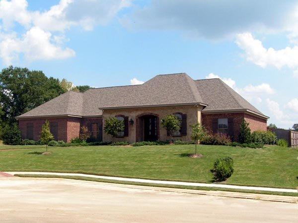 European House Plan 74631 with 3 Beds, 3 Baths, 3 Car Garage Elevation