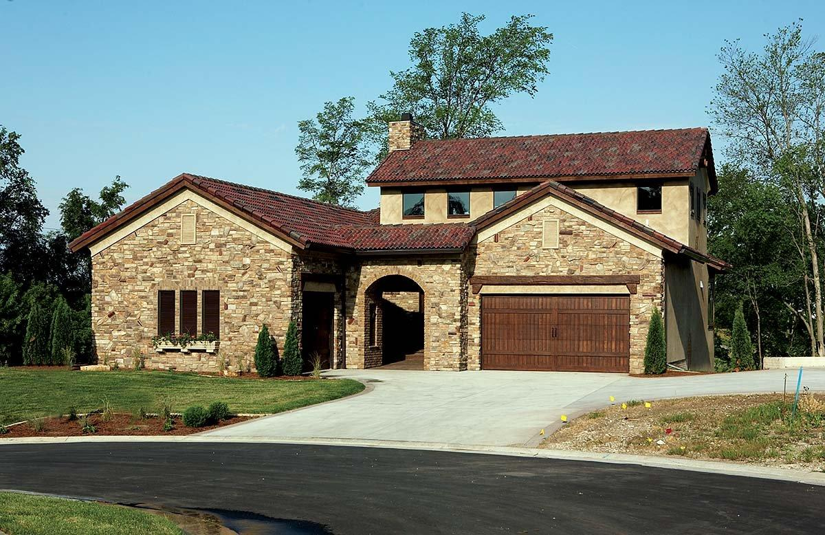Southwest, Tuscan House Plan 75471 with 4 Beds, 3 Baths, 3 Car Garage Elevation
